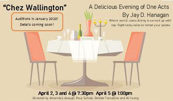 "Announcing ""Chez Wallington,"" ETC's 2020 Evening of One Acts!"